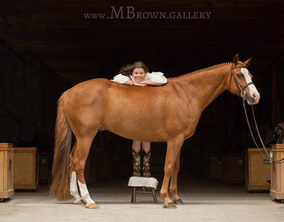 The girl the pony and the dog- equine portraits