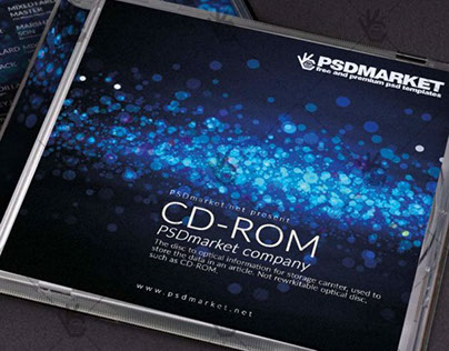 Stars Music – Free CD Cover PSD Template