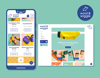 woof & wiggle brand idendity and e-commerce shop