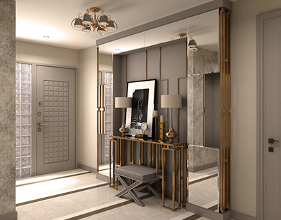 Flat Entrance Interior Design