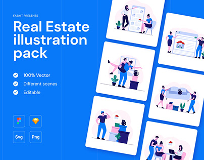 Real Estate Illustration Pack