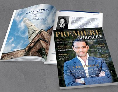 Дизайн и верстка двуязычного журнала PREMIERE business