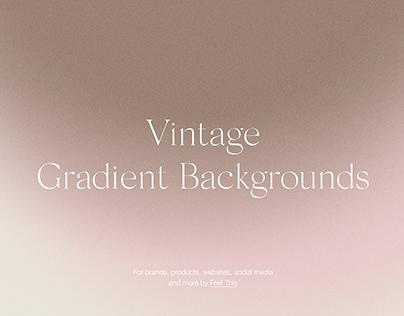 Vintage Retro Gradient Backgrounds With Grain Texture