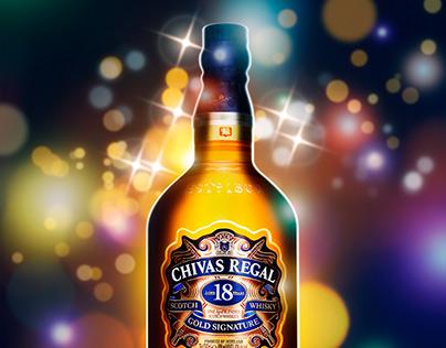 Chivas Regal 18 Year Old Whisky - Bokeh