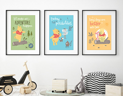 Winnie the Pooh graphics series for Disney Baby