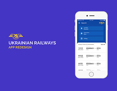 Ukrainian Railways App Redesign