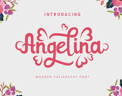 Angelina modern caligraphy font