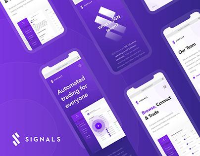 Signals - Web & Mobile App