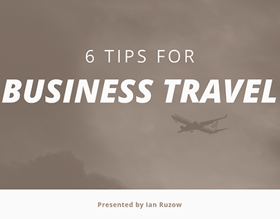 6 Tips for Business Travel
