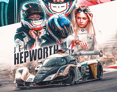 Jem Hepworth Praga Britcar Poster