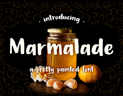 Marmalade, a pretty painted font