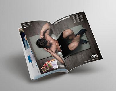 Anúncio Página Dupla Revista | Açaí Concept