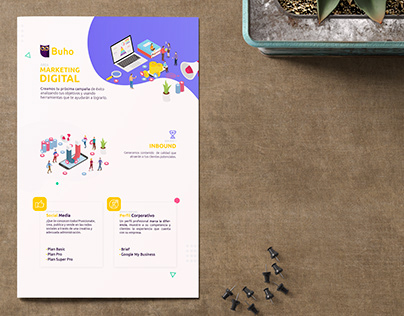 Brochure Marketing Digital de Digital Buho