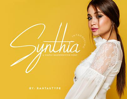 Synthia simple handwritten font