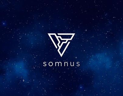 """Logotype for the cryptocurrency company """"Somnus"""""""