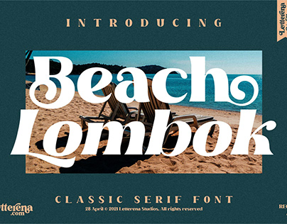 Beach Lombok - Luxury Serif Font
