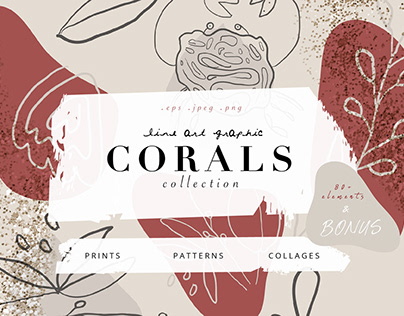 CORALS line art graphic collection
