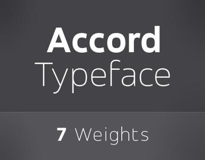 Accord - A Fresh New Sans Serif typeface