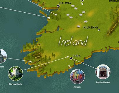 Map Design - Ireland -