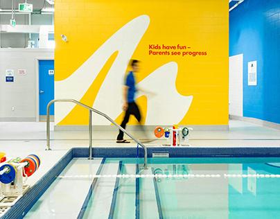 Making Waves Swim School branding