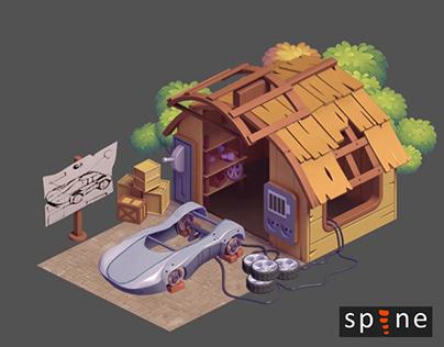 Garage upgrade animation