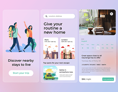 Travel, Trip, Stay APP Design -Concept