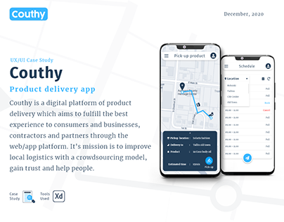 Couthy - Product delivery app case study - Lean UX