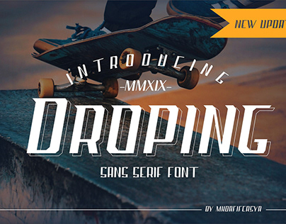 Free Droping Sans Serif Font