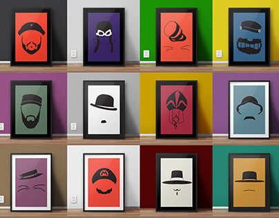 Famous hats and moustaches