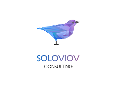 Logotype and landing for Soloviev Consulting