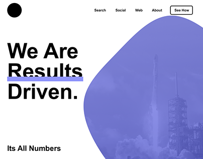 Results Driven - Homepage Design Practice