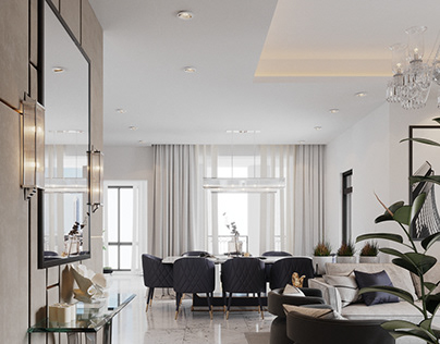 LIVING ROOM .Dubai Style