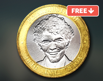 Face in Coin Mock-up