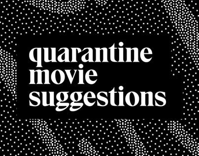 Quarantine movie suggestions