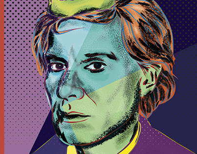 Andy Warhol Vector Portrait