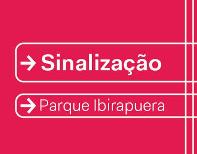 projeto de sinalização parque ibirapuera