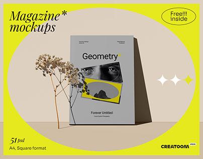 Geometry - magazine mockups