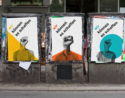 wir können es schaffen - Social Posters Series