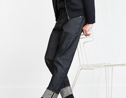 Selvedge denim for Zara Man AW15/16