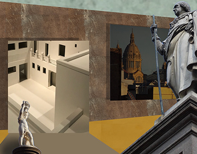 Photo collage for murals