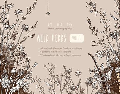 Wild Herbs graphic set