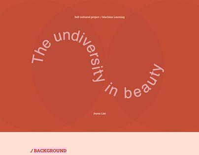 The Undiversity In Beauty