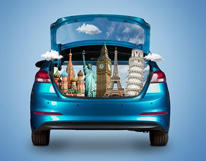 Car Travel Social Media