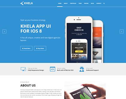 Khela | Business, Portfolio, App Landing Page Template