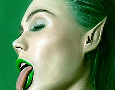 Digital Art – Emerald fairy