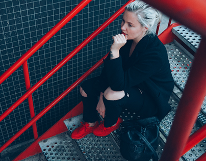 Girl on Kicks | Concrete #2: Red