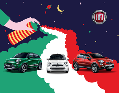 Fiat 500 - Forever Young Banner Campaign // Spray can