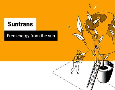 Suntrans form - UX/UI Website Design and Developing