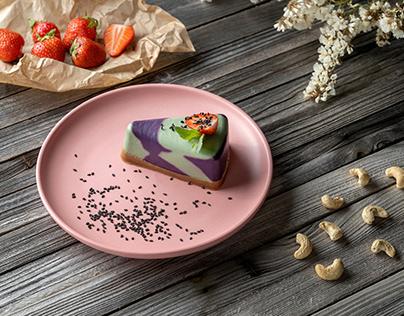 "Cashew cake ""blueberry-lemon-mint"""