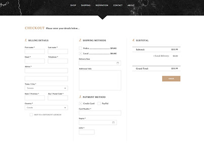 Amour Eternel - Checkout Page UI Design